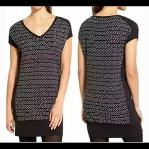 ATHLETA Thereafter V Neck Sweater Dress Tunic